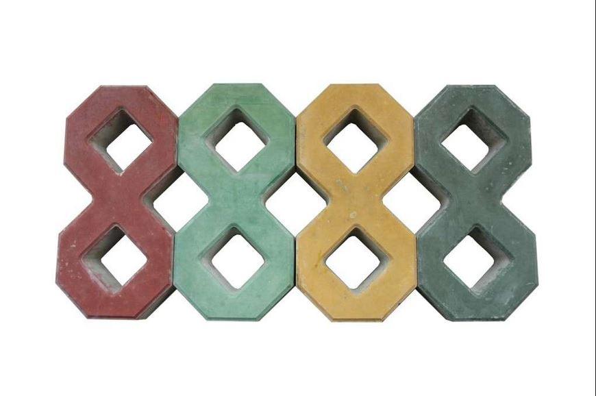 彩色八字砖